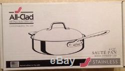 All-Clad d5 Brushed Stainless 4 Qt. Saute Pan with domed lid