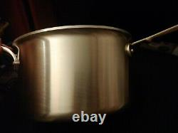 All Clad d5 Stainless Brushed 4 Quart Sauce Pan withLoop & Lid BD55204 Factory 2nd