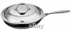 All Pans Cooks Standard NC00239 12Inch Ply Clad Stainless Steel Fry Pan with