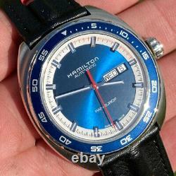American Classic Pan Europ Blue Automatic Wrist Watch H35405741 42mm