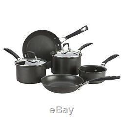 Anolon 5 Piece Non-Stick Hard Anodized Cookware Pan Set, Induction Compatible