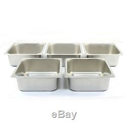 Bain Marie 5 Pan Wet Well Stainless Steel Catering 1/2 Gastronorm Pan Commercial
