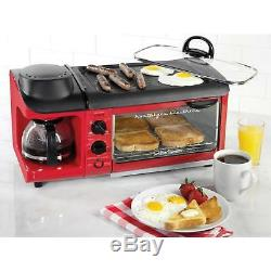 Breakfast Station Toaster Oven Coffee Machine Maker Grill Frying Pan Griddle NEW