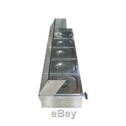 COMMERCIAL 1500W 5-Pan Bain-Marie Buffet Countertop Food Warmer Buffet TRAY