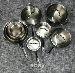 Calphalon Tri-Ply Stainless Steel 13 Pc Kitchen Pot & Pan Cookware Set (Used)