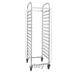 Catering Racking Trolley 15 Shelves Bakery Pan Trays Shelves Commercial Kitchen