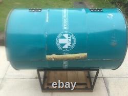 Charcoal oil drum bbq smoker jerk pan huge with detachable legs