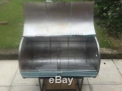 Charcoal oil drum bbq smoker jerk pan huge with or without stand