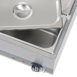Commercial 6 Pots Stainless Steel Catering Pan Bain Marie Electric Food Warmer