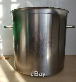 Commercial Catering Stainless Steel Stock Pot Stew Soup Boiling Pan Large 50L