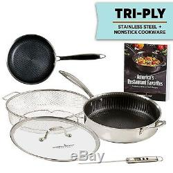 Copper Chef Titan Pan, Tri Ply Stainless Steel Non-Stick Frying Pans, 5 Pcs Set
