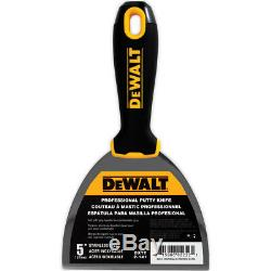 DEWALT Drywall Taping Tool Set Premium Stainless Steel Knives, Mixers, Mud Pan
