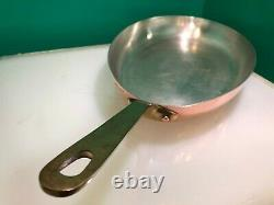E. Dehillerin Oval Copper Saute Pan/Skillet withHandle Made in France