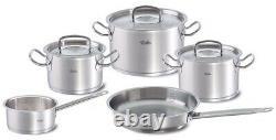 Fissler Original-Profi Collection 8 PC Cooking Pot Set w Fry Pan Sauce Pan & Lid