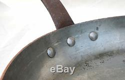 French Chef Cookware Stainless Steel Lined Copper Set 5 Sauce Pans 1 Skillet