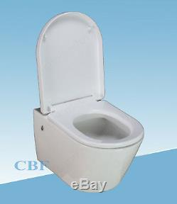 Geberit UP720 8cm WC wall hung toilet frame + pan +plate +brackets +mat +seat