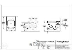 Grohe Wc Frame+villeroy & Boch Omnia Architectura Wall Hung Toilet Pan Soft Seat