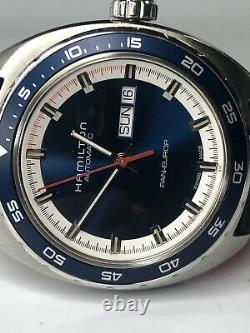 HAMILTON Pan Euro H354050 Day date Blue Dial Automatic Men's Watch 545936