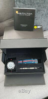 Hamilton American Classic 42mm Pan Europ Blue Sunray Dial & Bezel Watch