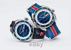 Hamilton American Classic Pan Europ Day Date Auto Blue Dial Men Watch H35405741