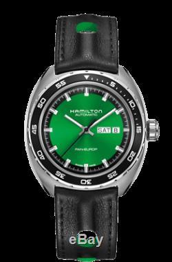 Hamilton American Classic Pan Europ Day Date Auto Green Dial Men Watch H35415761