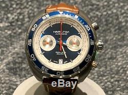 Hamilton Pan Europ 1971 Limited Edition Blue Chronograph Automatic Mens Watch