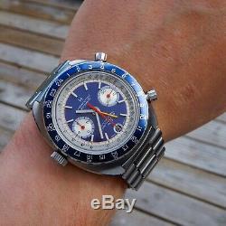 Hamilton Pan Europ GMT 707 1971 Vintage Automatic Heuer Cal 12 Diver Chronograph