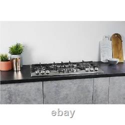Hotpoint PHC961TSIXH 87cm Six Burner Gas Hob Stainless Steel With Cast Iron Pan