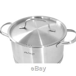 Induction Cookware Set 6pcs Stainless Steel Pots and Pans