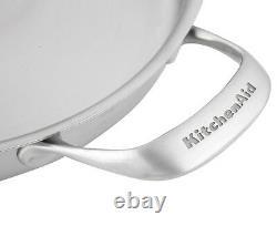 Kitchenaid 5-ply Copper Core 3.5-quart Braiser Pan With LID Silver