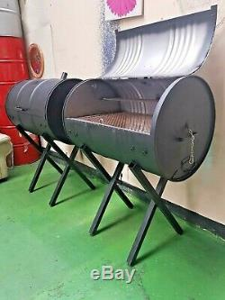 Large Bbq Charcoal Oil Barrel Smoker Grill Jerk Pan For All Occasion