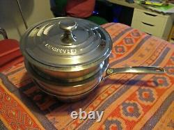 Le Creuset 20cm Stainless Steel pan with 2 steamers