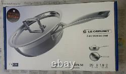 Le Creuset 3-Ply Stainless Steel Non-Stick 20 cm Chef's Pan with Lid