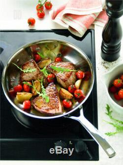 Le Creuset 3-Ply Stainless Steel Uncoated Frying Pan, 28 cm 28