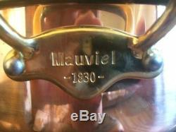 MAUVIEL Copper 5 Quart Saute Pan with Lid NEW Display model