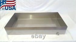 Maple Syrup Boiling Pan 18x34x6 Stainless Steel Sap evaporator tig 18 ga USA