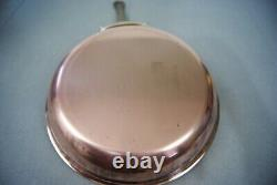 Mauviel By Williams Sonoma 10 Copper 2.1mm Fry Pan Stainless Steel Lined Bronze