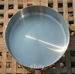 Mauviel Copper 9-1/2 Saute Pan with Lid, stainless steel interior, Made in France