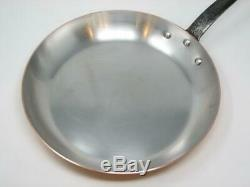 Mauviel Copper Stainless Steel 12 Open Fry Pan Cast Iron Handle Heavy FRANCE