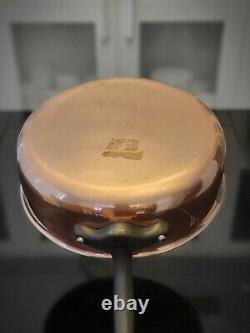 Mauviel Jacques Pepin Saute Pan 3L 3.5 qt 24 cm with Lid M'Heritage M150C Copper