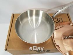 Mauviel Triply Copper 3.5 Quart Saute Pan Stainless Steel Handles NEW