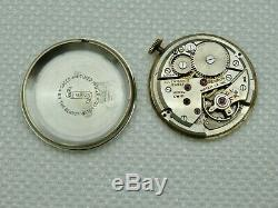 Mens VTG Swiss Made Benrus Manual Wind Wristwatch Knurled Lugs Pie Pan Dial