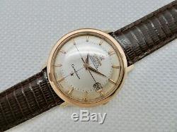 Mens Vtg 1963 Omega Constellation Pie Pan Cross Hairs Dial 36mm 168.004 62-sc