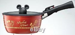 Mickey Mouse IH Pan Fly pan set Kitchen MIB F/S Disney Cute Flying Pan Japan NEW