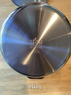 NEW All-Clad 4403 Stainless Steel Tri-Ply Bonded 3-Quart Saute Pan with lid