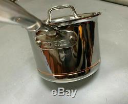 NEW All Clad Copper Core 2 QUART Qt Quart Sauce Pan Pot New with Lid