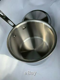 NEW All Clad Copper Core 2 QUART Qt. Quart Sauce Pan Pot with Lid