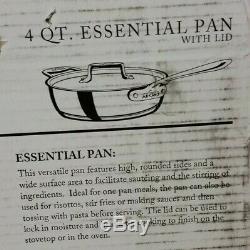 NEW All-Clad Copper Core 4 QT. Essential Pan