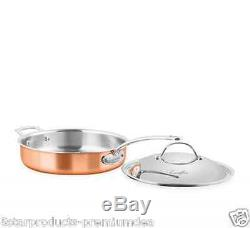 NEW CHASSEUR ESCOFFIER SAUTE PAN 28cm WITH LID STAINLESS STEEL COOKWARE KITCHEN