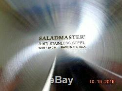 NEW SALADMASTER 12 GOURMET SKILLET PAN 316Ti TITANIUM STAINLESS STEEL